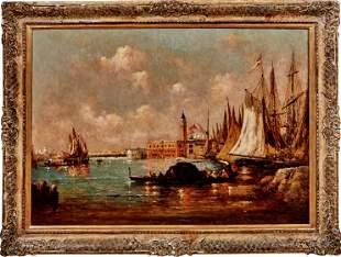 Ziem, Felix (Attrib.): Blick auf die Lagune von Venedig