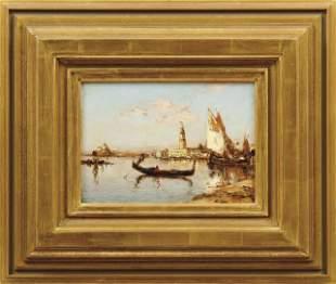 Ziem, Felix Francois Georges Philibert: Gondel und