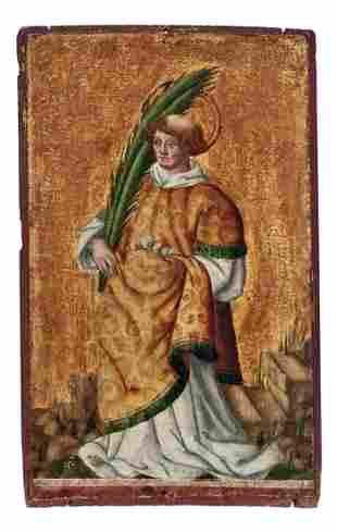 Kleines gotisches Tafelbild mit der Darstellung des
