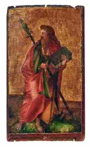 Kleines gotisches Tafelbild mit Darstellung des