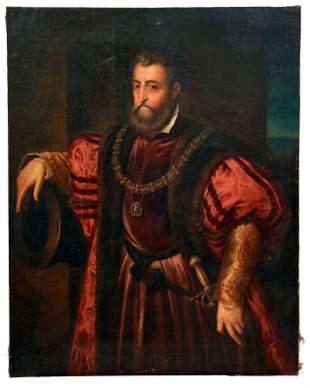 Vecellio (Tizian), Tiziano - Kopie nach, Alfonso I.