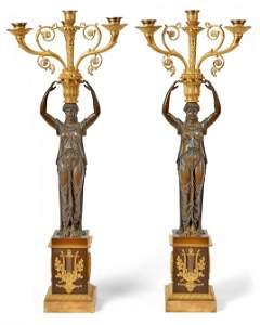 Paar figuerlicher Empire-Girandolen, Frankreich, um