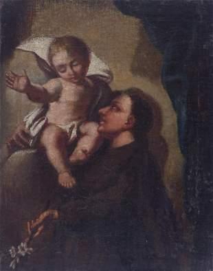 Der heilige Antonius von Padua mit dem Jesuskind, 17.
