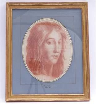 Kopf einer jungen Dame, Frankreich, 18. Jh.