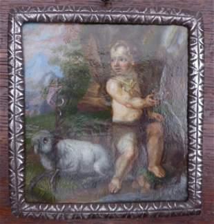 Johannesknabe mit dem Lamm Gottes, Wohl Italien, 18.