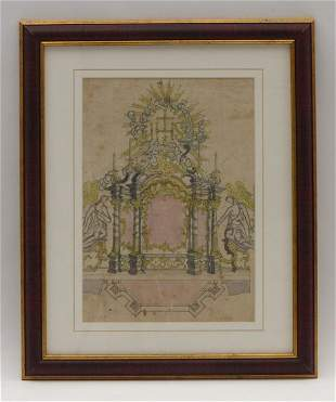 Entwurf zu einem barocken Säulenaltar, 18. Jh.