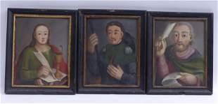 Drei Heiligendarstellungen, Um 1800
