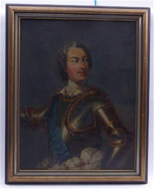 Bildnis Ludwig XV (?) in Prunkrüstung, 18. Jh. oder
