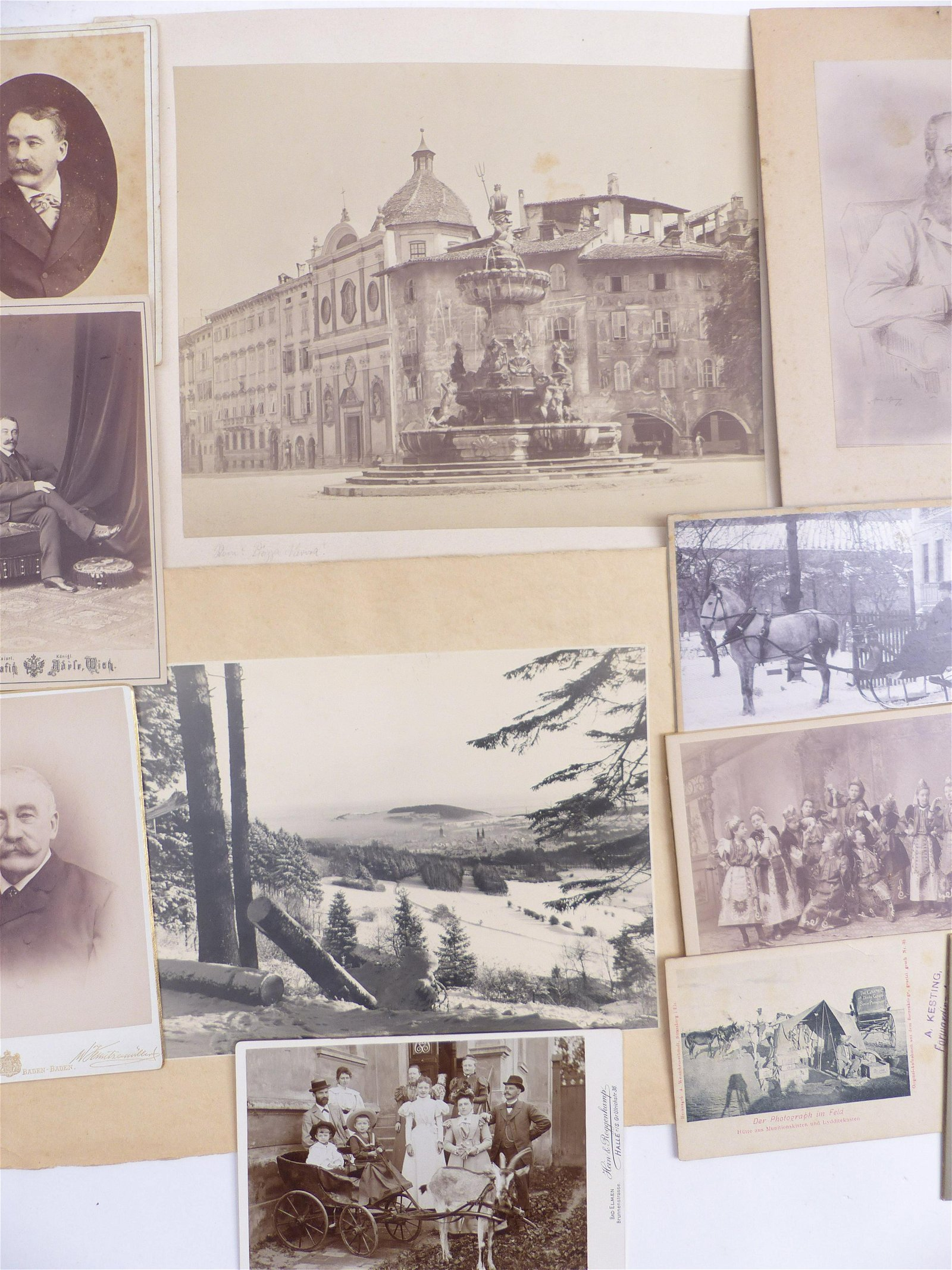 Kleine Sammlung von 28 Fotografien Deutschland, Italien