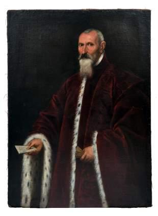 Tintoretto, Jacopo oder Domenico - Kreis des: Bildnis