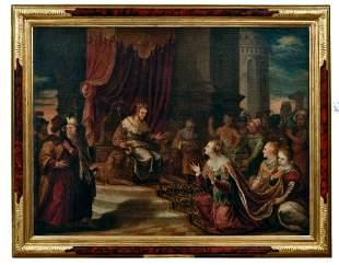 Salomon empfaengt die Koenigin von Saba: Flaemischer