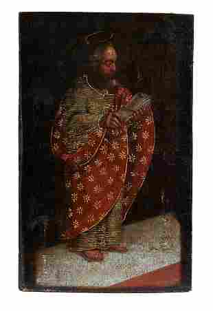 Der heilige Paulus mit Buch und Kerze, 17. Jh.