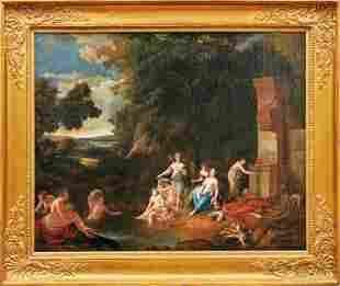 Diana und ihre Gefaehrtinnen beim Bade, Hollaendische