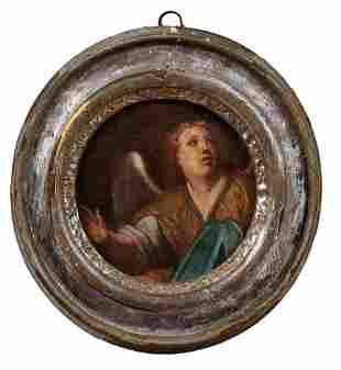 Kleines Tondo mit Engel, Italien, 17. Jh.