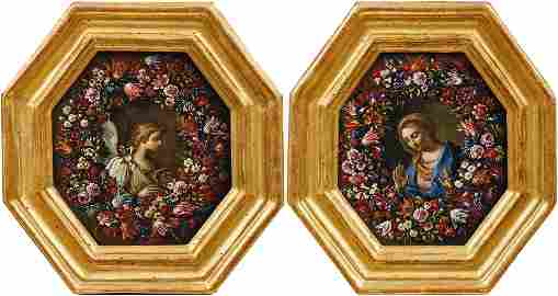 Brueghel, Abraham & Carlo Maratta (Attrib.): Pendants
