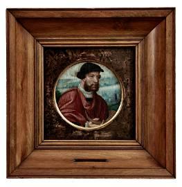 Qualitaetvolles Tondo mit dem Bildnis eines Mannes mit