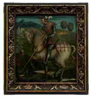 Der heilige Georg im Kampf mit dem Drachen,