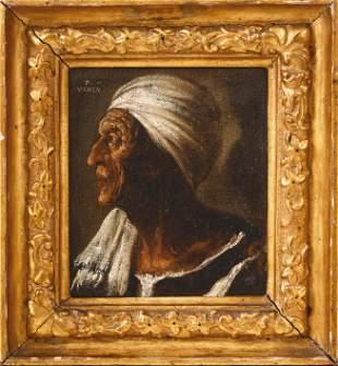 Vecchia, Pietro della (Attrib.): Bildnis einer alten