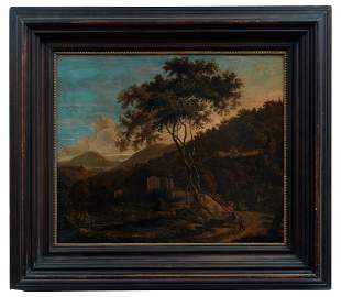 Both, Jan (Attrib.): Suedliche Landschaft mit auf einem
