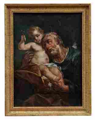 Der heilige Josef mit dem Jesusknaben, Bolognesischer