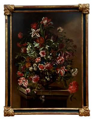 Blumenstillleben, Italienischer Meister des 18.