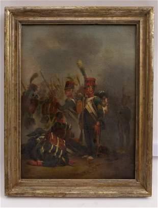 Grenadiere kurz vor Beginn der Schlacht, Fr. 19. Jh.