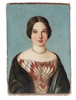 Kleines Damenbildnis, fr. 19. Jh.
