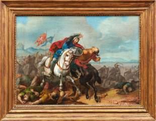 Tuerkische Reiterschlacht, Deutsch-Roemer, 19. Jh.