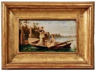 Ciotta, C.: Allegorische Szene mit zwei Frauen in einem