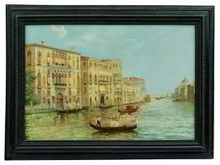Gondolieri auf dem Canal Grande in Venedig,