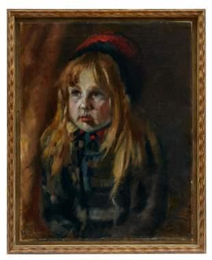 Kinderportrait in der Art des Ludwig von Zumbusch,