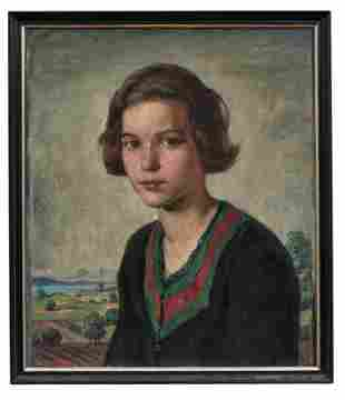 Hannemann, Walter: Bildnis eines jungen Maedchens