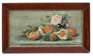 Aranka, E.: Stillleben mit Orangen und Blumen