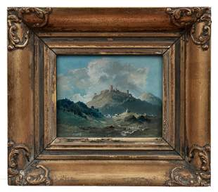 Krejsa, Josef: Blick auf Burg Bezdez (Boesig)