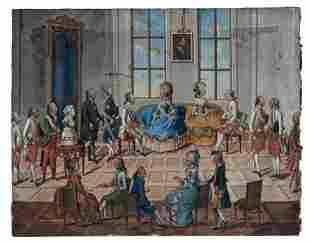 Salon am Habsburger Hof, 18. Jh.