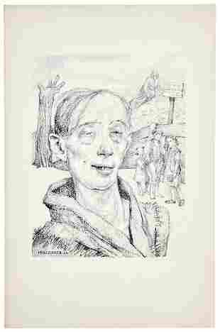 Baluschek, Hans: ''Portrait einer Saeuferin''