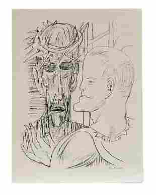 Beckmann, Max: Jesus und Pilatus