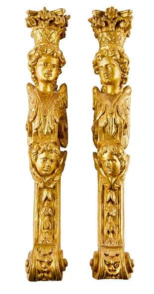 Paar figuerlicher Pilaster, 17. Jh.