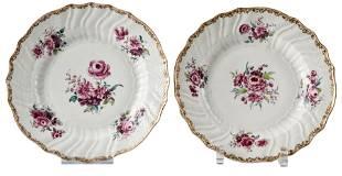 Zwei Blumenteller, KPM Berlin, um 1765/70