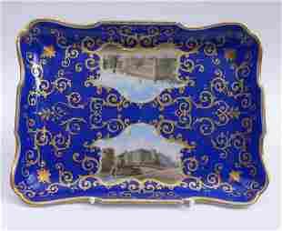 Tablett mit Berliner Ansichten, KPM Berlin, 1849-70