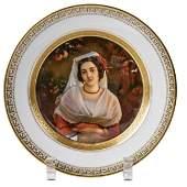 Teller mit Bildnis einer Albanerin, KPM Berlin, 1849-70