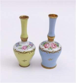 Zwei Miniaturvasen, Limoges, 20. Jh.