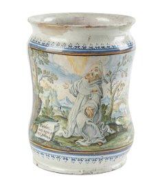 Albarello mit dem heiligen Petrus Martyr Neapel,