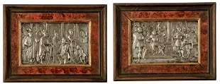 Zwei Reliefs mit historischen Szenen, 19. Jh
