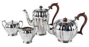 Vierteiliges Teeservice, irmingham, W. Greenwood & Sons