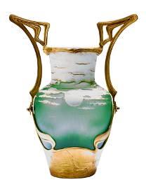 Vase in Montierung, Ludwig Moser & Soehne, Meierhoefen