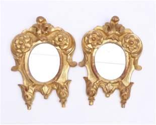 Paar kleine Wandspiegel; im Barockstil