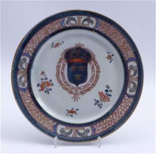 Imari-Teller mit franzoesischem Wappen China,