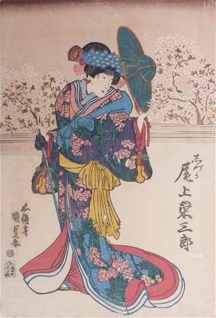 Utagawa Kunisada (Toyokuni III.): Der Schauspieler Onoe