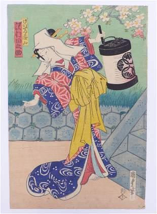 Utagawa Kunisada (Toyokuni III.): Schauspieler mit
